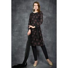 CLASSY BLACK PAKISTANI DESIGNER READY TO WEAR SALWAR SUIT
