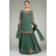 AQUA MARINE INDIAN PARTY & WEDDING LEHENGA DRESS