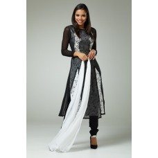 IDCE-393 BLACK AND WHITE INDO WESTERN STYLE READYMADE SUIT
