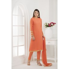 RUSSET ORANGE SIMPLE STRAIGHT CUT FORMAL READY MADE SUIT