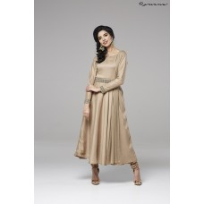 MOUSE CREPE SILK FLARED CIRCULAR STYLE READY MADE DRESS