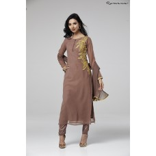 DEEP MAUVE INDIAN PARTY GEORGETTE READY MADE OUTFIT