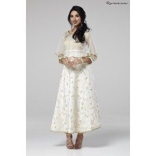 GOLD BEIGE & IVORY CAPE STYLE WEDDING WEAR READY MADE SUIT