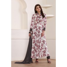 AMAZING NEW STYLISH FLARED FLORAL PRINT READY MADE WESTERN STYLE SALWAR SUIT