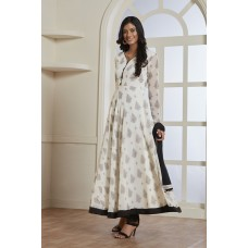 BLACK AND WHITE FLARED STYLE READY MADE WESTERN DRESS