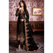 Black Indian Pakistani Party Style Suit