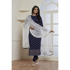 GORGEOUS NAVY BLUE SUMMER WEAR READY MADE SALWAR SUIT