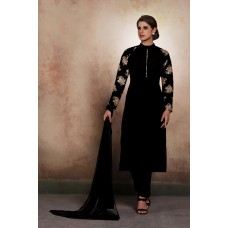 BLACK INDIAN AND PAKISTANI GEORGETTE READY MADE INDIAN SUIT
