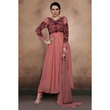 HOT PINK LONG LENGTH ANARKALI STYLE READY MADE PAKISTANI SUIT