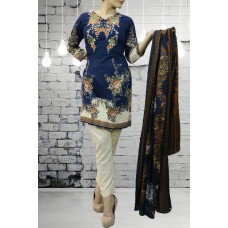 IDC-417 BLUE EMBROIDERED READY MADE PAKISTANI STYLE SALWAR KAMEEZ