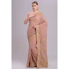 ZIDCS-207 PINK SPRING SUMMER WEDDING FESTIVE SAREE