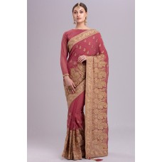 ROSE PINK NEW BRIDE DULHAN WEAR INDIAN SAREE