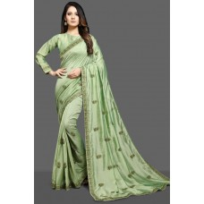 BISCAY GREEN INDIAN ETHNIC WEAR SAREE