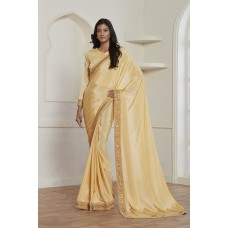 GOLD SHIMMER GEORGETTE INDIAN WEDDING AND BRIDESMAID SAREE
