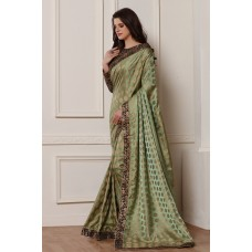 EXQUISITE MARTINI OLIVE MEHDNI OCCASION WEAR READY MADE SAREE