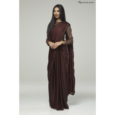 CHOCOLATE COLOUR INDIAN DASHING NEW PARTY WEAR SAREE