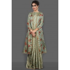 PISTA GREEN NEW STYLE FESTIVE INDIAN SAREE