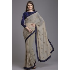 ZIDC-407 LUXURIOUS NEW WEDDING WEAR INDIAN READYMADE SAREE