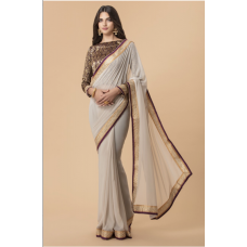 GOLD OFF WHITE DESIGNER INDIAN PARTY READY SAREE UK