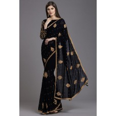BLACK INDIAN PARTY STYLISH SAREE