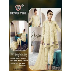 Yellow Party Frock Heavy Embroidered Pakistani Suit