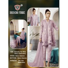 Purple Party Frock Heavy Embroidered Pakistani Suit