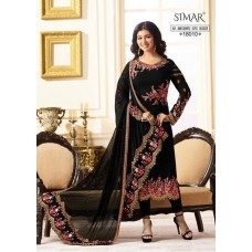 BLACK INDIAN PARTY WEAR READY MADE SALWAR SUIT G18010-D