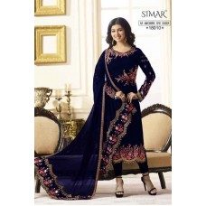 EGYPTIAN BLUE INDIAN PARTY WEAR READY MADE SALWAR SUIT G18010-A