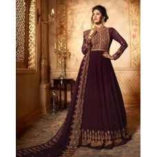 PLUM INDIAN PARTY & WEDDING WEAR ANARKALI READY MADE GOWN
