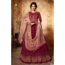 CLASSIC BURGUNDY INDIAN READY MADE WEDDING WEAR GOWN