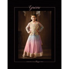 8076 BLUE AND PINK KARMA NET FABRIC HEAVY EMBROIDERED SHADED PARTY WEAR ANARKALI SUIT FOR GIRLS