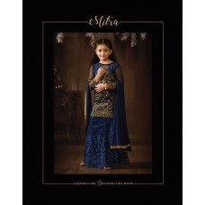 8073 NAVY BLUE KARMA HEAVY GOLD EMBROIDERED WEDDING WEAR DESIGNER LEHENGA FOR YOUNG GIRLS