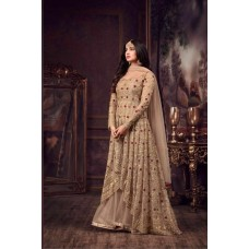 GOLD READY MADE WEDDING WEAR GOWN 5608