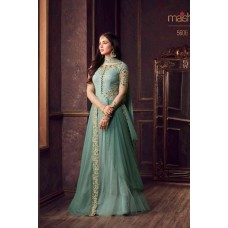 TURQUOISE BLUE INDIAN READY MADE GOWN 5606