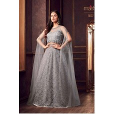 LAVISHING QUIET GREY READY MADE ANARKALI STYLE GOWN 5602