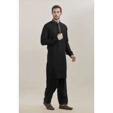 BLACK KURTA AND SHALWAR READY MADE MENSWEAR EID SUIT