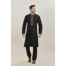 BLACK KURTA AND PAJAMA READY TO WEAR EID OUTFIT