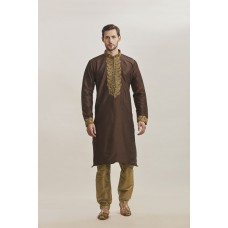 COPPER BROWN EID/MEHNDI STYLE READY MADE MENS KURTA SHALWAR