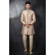 Gold Sherwani For Men Indian Groom Outfit