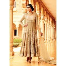 35005 BEIGE MOHINI GLAMOUR PARTY WEAR SEMI STITCHED ANARKALI SUIT