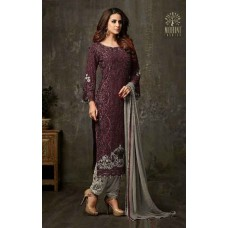 MAROON INDIAN PARTY READY MADE SALWAR SUIT