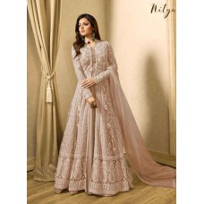 BEIGE INDIAN DESIGNER EVENING PARTY GOWN