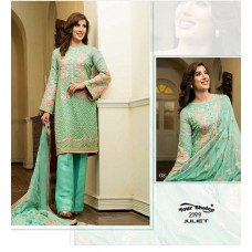 GREEN MEHWISH HAYAT PAKISTANI STYLE READY MADE SUIT