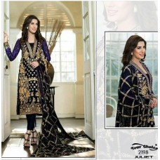 BLACK MEHWISH HAYAT PAKISTANI STYLE READY MADE SUIT