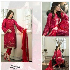 RED MEHWISH HAYAT PAKISTANI STYLE READY MADE SUIT