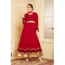 RED MAXI XXL PLUS SIZE INDIAN PARTY WEDDING ANARKALI SUIT