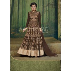 Chocolate Brown Designer Indian Evening Gown