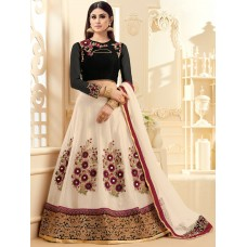 12077 BLACK AND BEIGE ARIHANT HEAVY WORKED LEHENGA