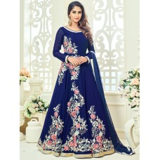 EGYPTIAN BLUE ARIHANT FLORAL EMBROIDERED ANARKALI SUIT
