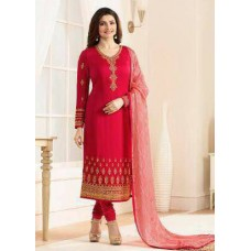 AUBURN RED KASEESH JANNAT EMBROIDERED GEORGETTE PRACHI DESAI STRAIGHT SALWAR SUIT